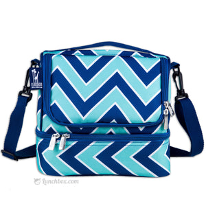 Double Decker Lunch Box - Zig Zag