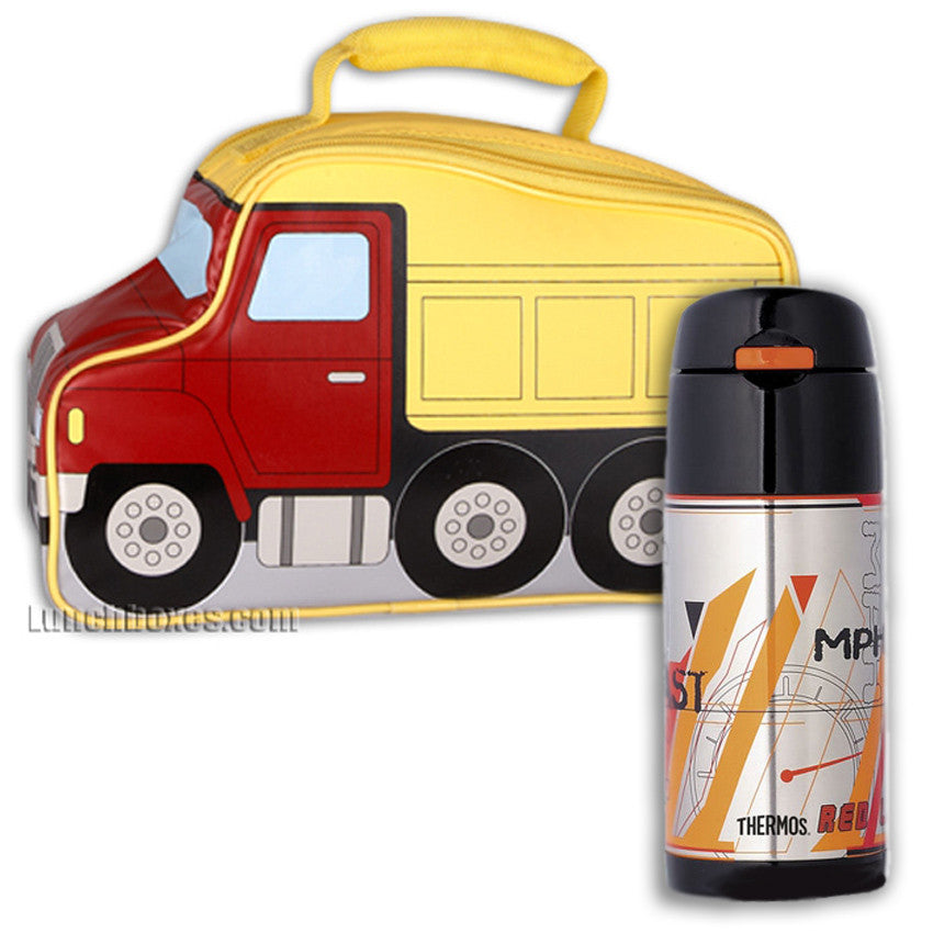 Dump Truck Lunchbox and Thermos Bottle