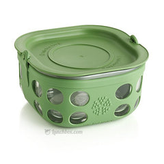 Glass Food Storage and Sandwich Box - Green