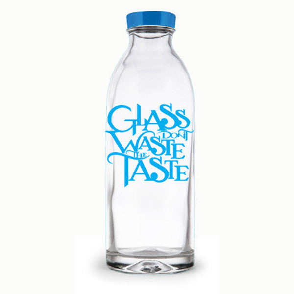 Glass Don't Waste the Taste Water Bottle