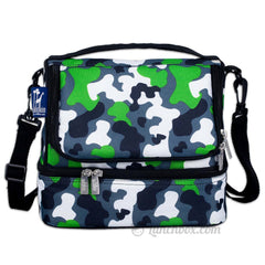Double Decker Lunch Box - Green Camo