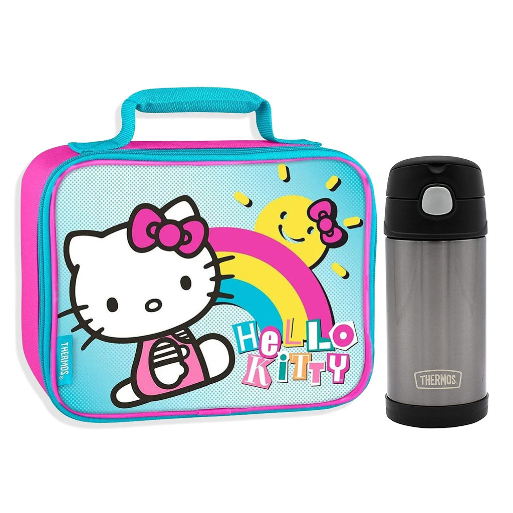 Hello Kitty Lunch Box with Thermos Bottle