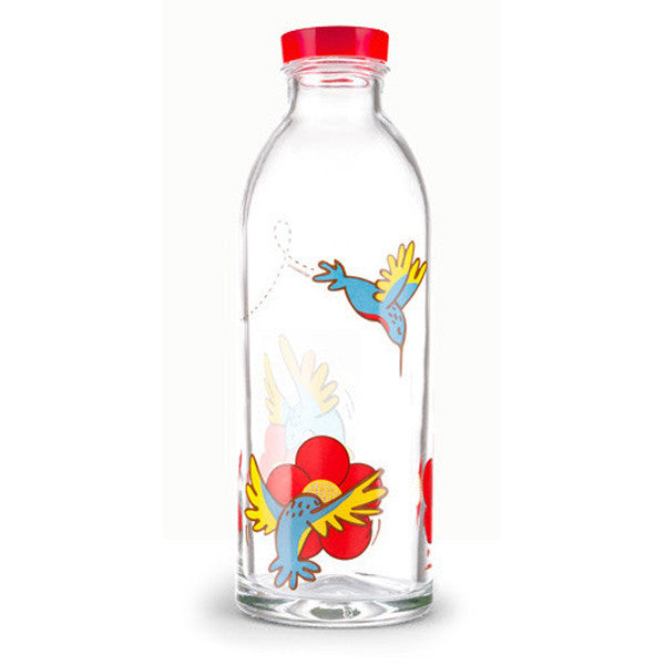 Hummingbird Glass Bottle