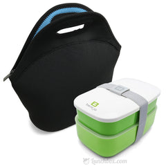 Black Insulated Bento Lunch Bag with Bentgo Bento Box