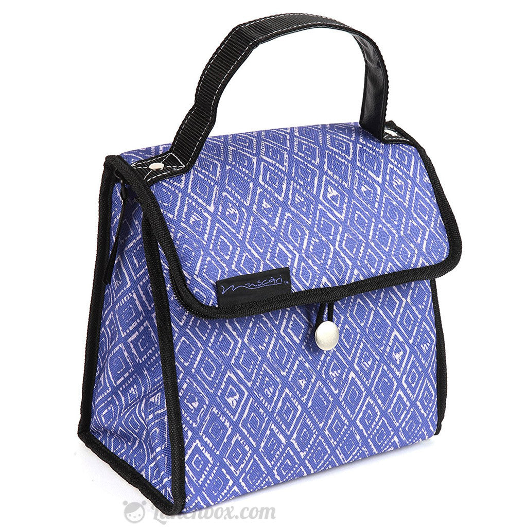 Blue Insulated Lunch Tote