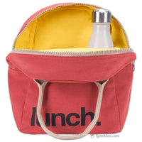Insulated Red Lunch Bag