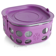 Glass Food Storage and Sandwich Box - Purple