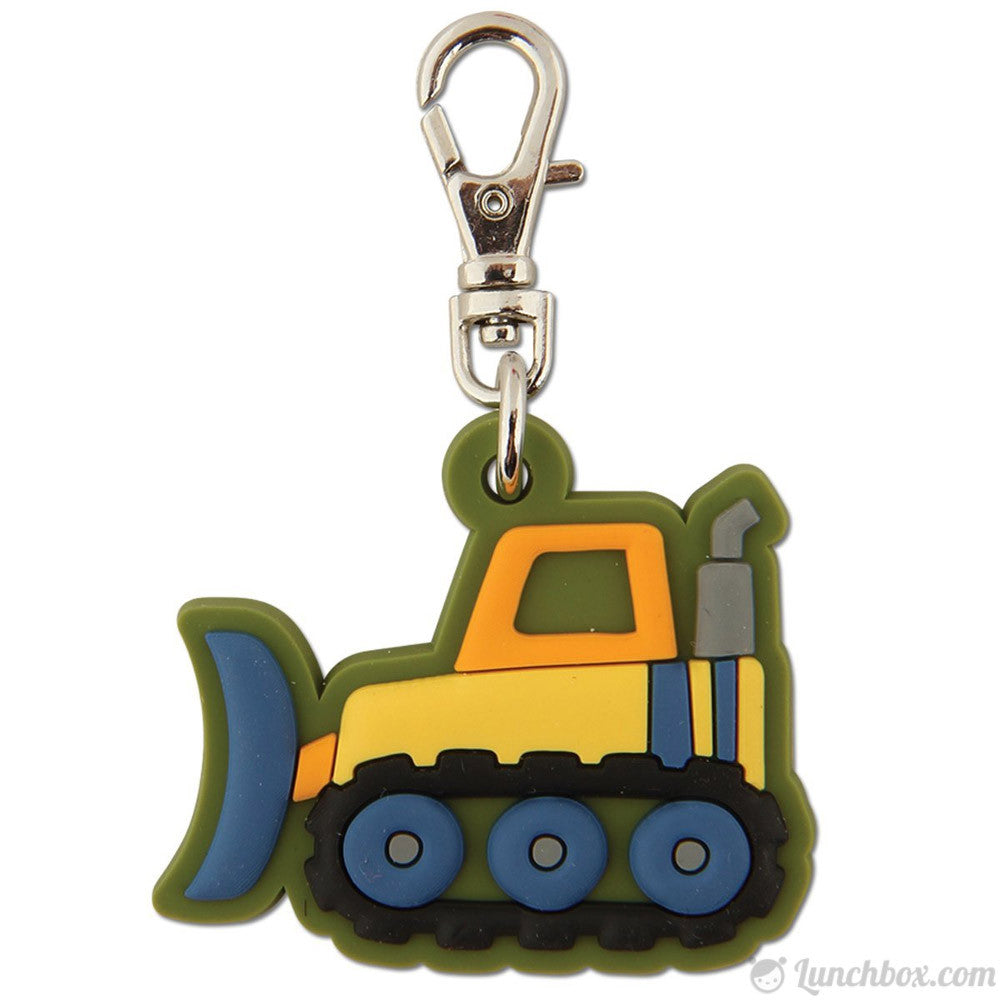 Lunch Box Zipper Pull - Bulldozer