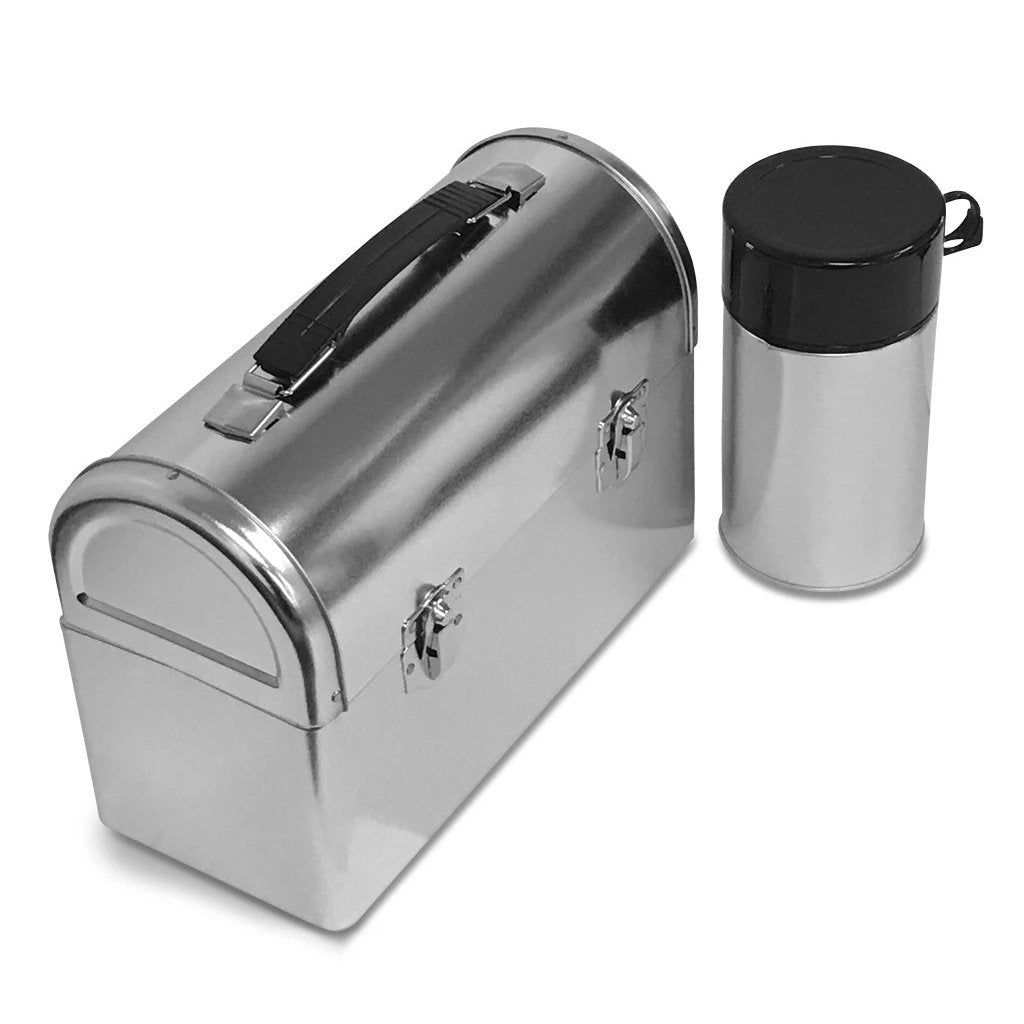 Metal Dome Lunch Box with Thermos Bottle