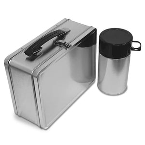 Metal Lunch Box With Thermos Bottle