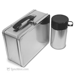 Plain Metal Lunch Box and Insulated Bottle