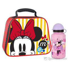 Minnie Mouse Lunch Box with Water Bottle
