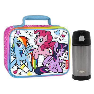 My Little Pony Lunch Box with Thermos Bottle