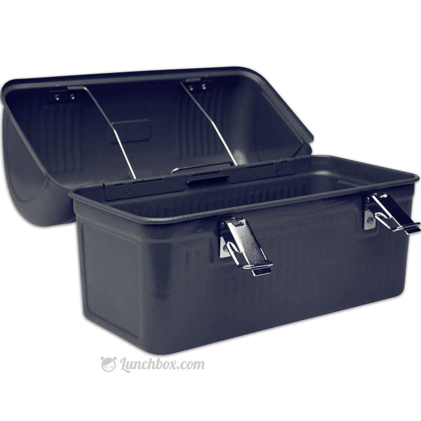 Construction Worker Black Dome Lunch Box Lunchbox Com