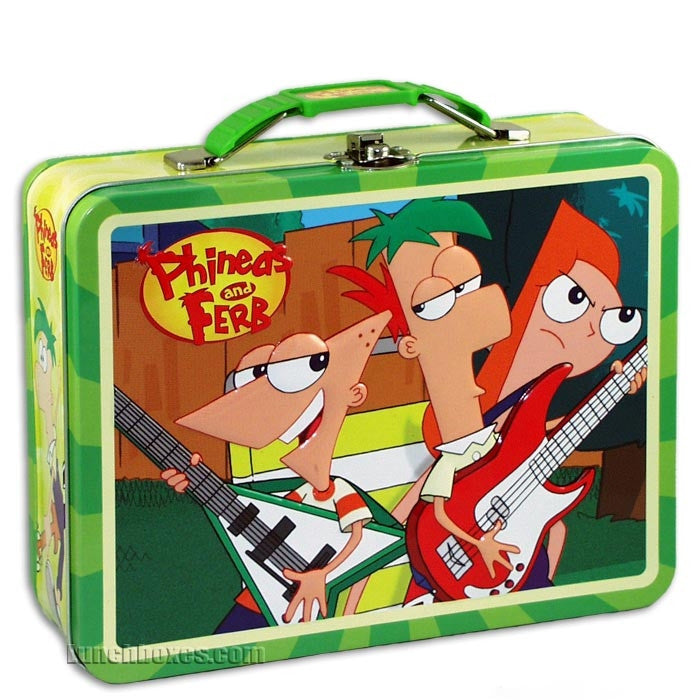Phineas And Ferb Guitar Hero Snackbox Lunchbox Com
