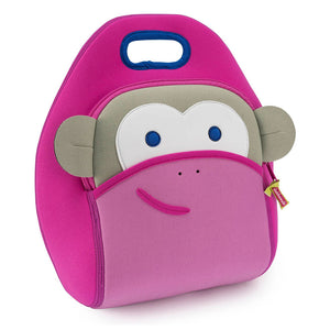 Pink Monkey Lunch Bag
