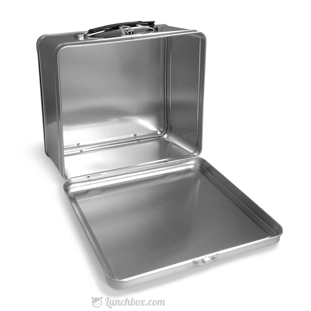 Metal Lunch Tin Part - 16: Plain Metal Lunch Box