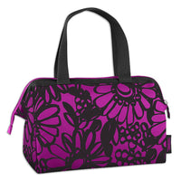 Purple Flowers Insulated Lunch Tote