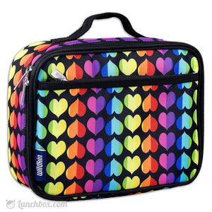 Rainbow Hearts Girls Lunch Box