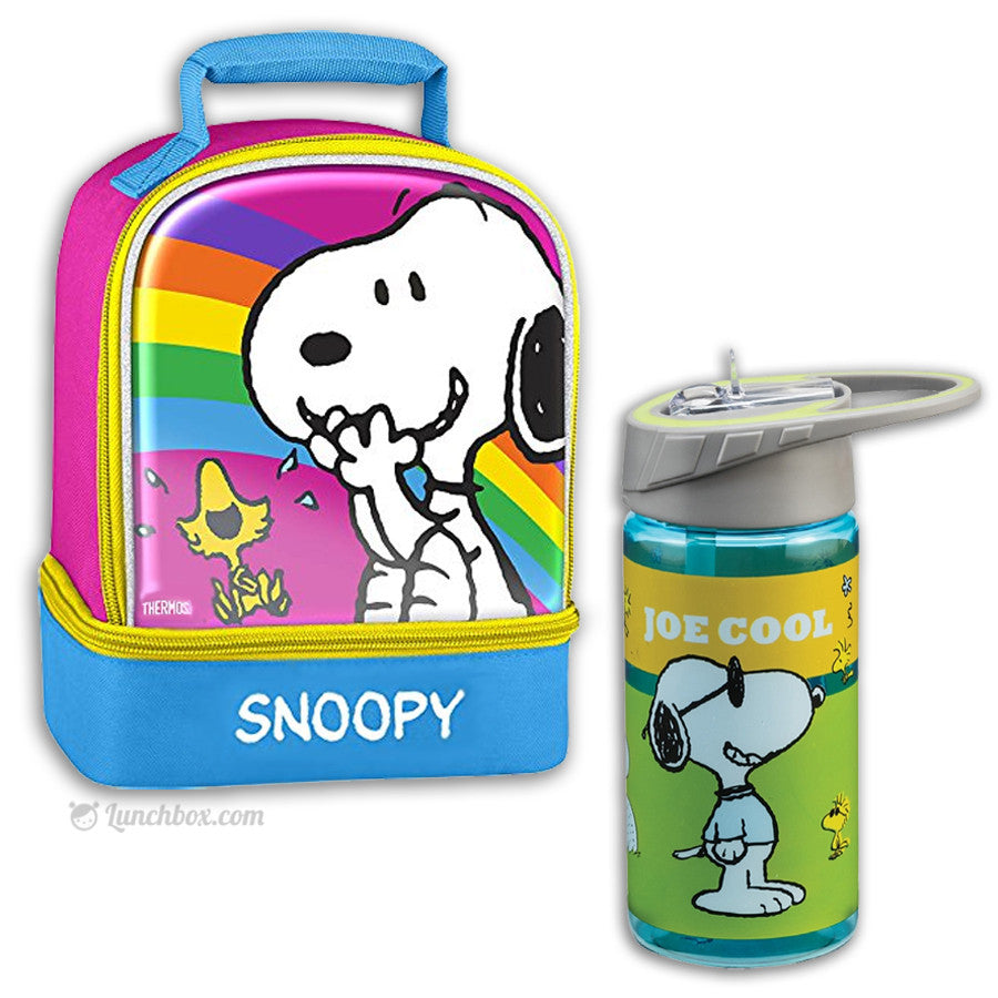 Snoopy Insulated Lunch Box with Drink Bottle