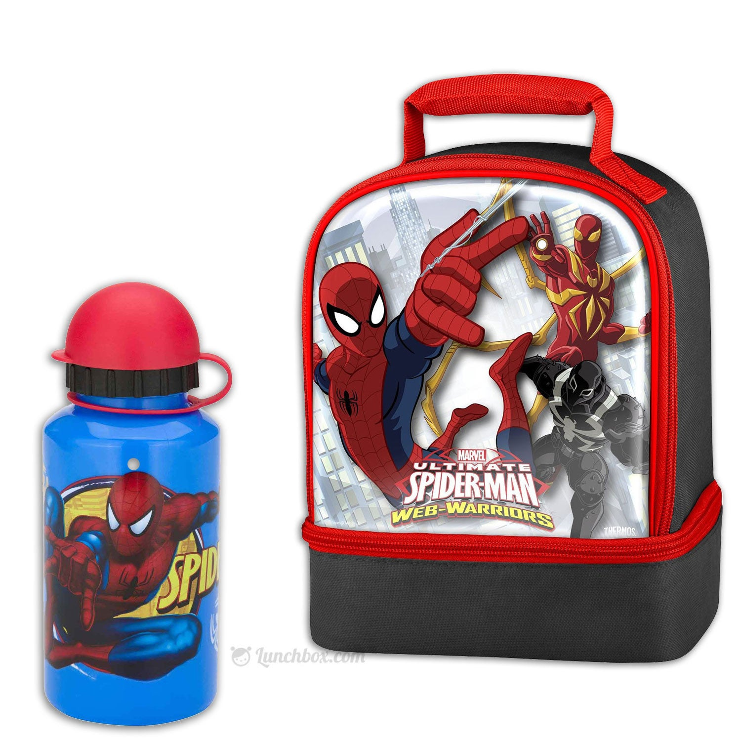 Spider-Man Lunch Box with Thermos Bottle