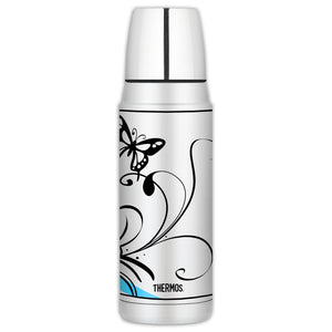 White Butterfly Thermos Bottle