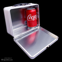 White Metal Lunch Box