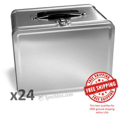 Plain Metal Lunch Boxes - Case of 24