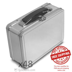 Small Plain Metal Lunch Boxes - Case of 48