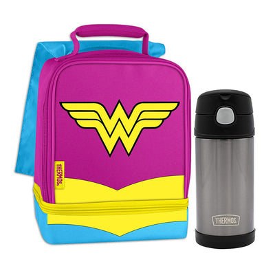 Wonder Woman Lunch Box with Thermos Bottle