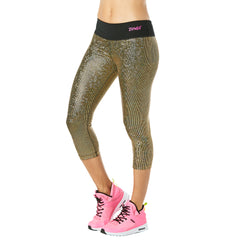 Light Up The Dancefloor Metallic Capri Leggings