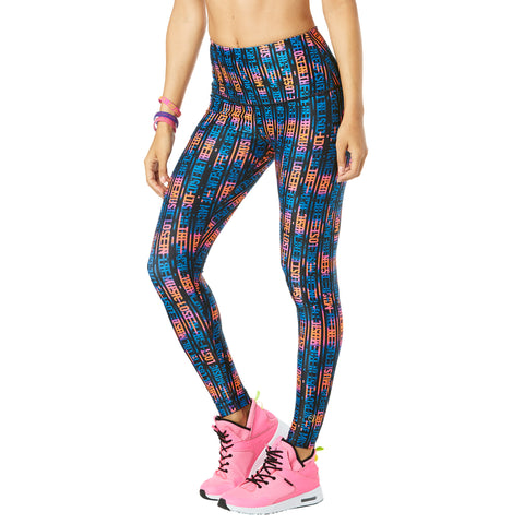 Lost In The Music High Waisted Ankle Leggings - Shocking Pink