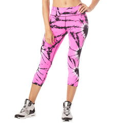 Tie Dye For Zumba Capri Leggings