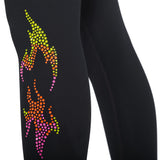 Zumba Flame Leggings With Swarovski Crystals