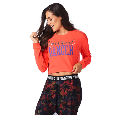 Spiritual Dancer Long Sleeve Crop Top