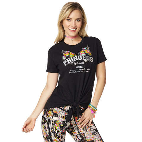 Zumba Princess Tie Front Top