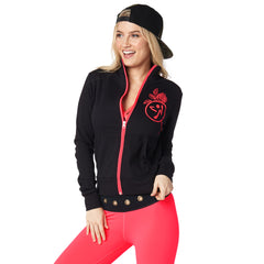 Zumba Power Zip Up Cardigan