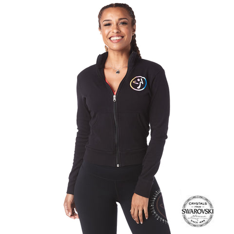 Zumba Zip-Up Jacket With Swarovski Crystals