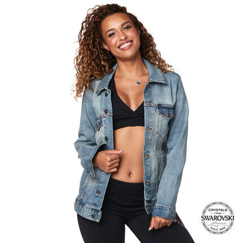 Zumba Denim Jacket With Swarovski Crystals