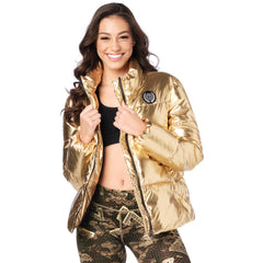 Zumba Metallic Puffer Jacket