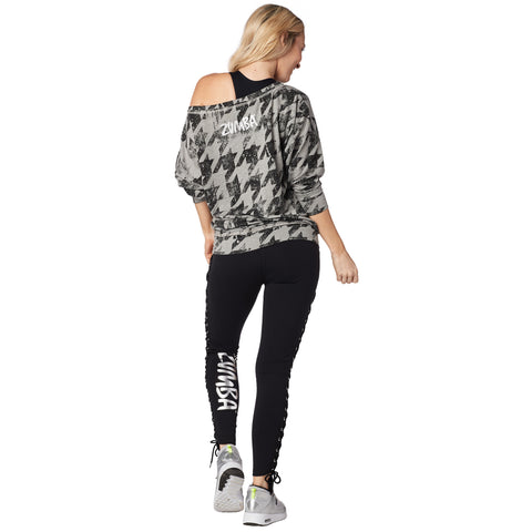 Rockin' Zumba Lace Up Pullover