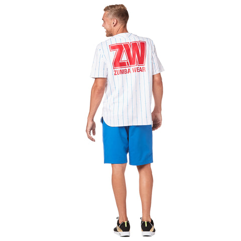 Zumba Varsity Short Sleeve Button Down