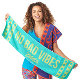 No Bad Vibes Fitness Towels 2 PK