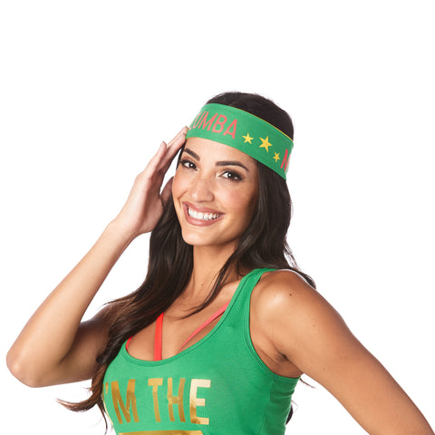 Zumba MVP Reversible Headbands 3 PK
