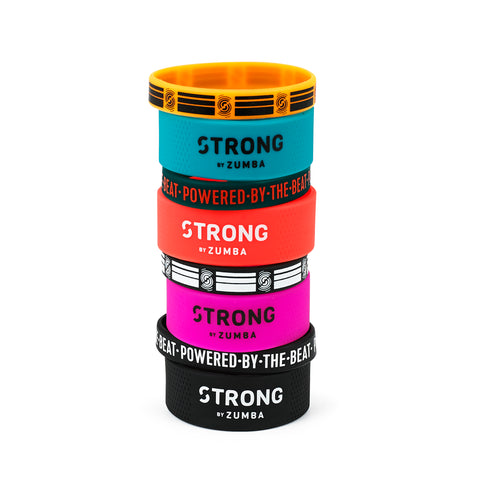 Powered By The Beat Rubber Bracelets 8 PK