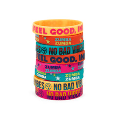 No Bad Vibes Rubber Bracelets 8 PK