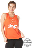 Zumba Open Back Tank With Swarovski Crystals