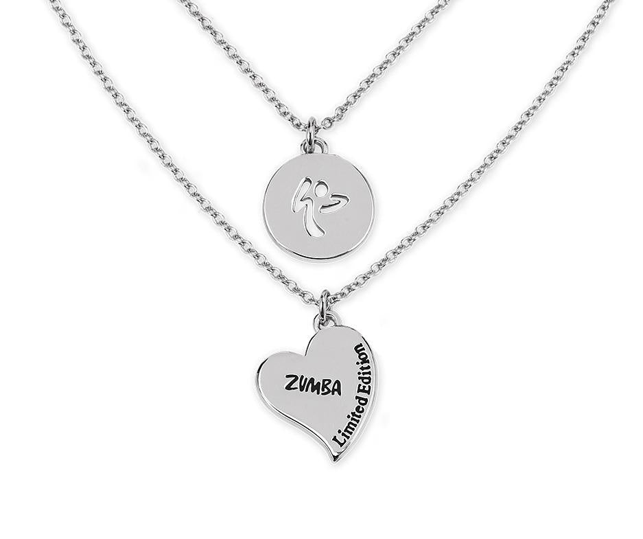 25a28d1dd9b Zumba Love Double Layer Necklace With Swarovski Crystals | zumbawear ...