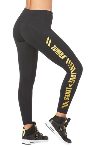 Zumba Love Over Likes Panel Ankle Leggings