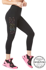 Zumba High Waisted Crop Leggings With Swarovski Crystals